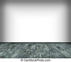 white wall and wooden floor