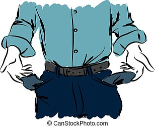 cash out businessman illustration