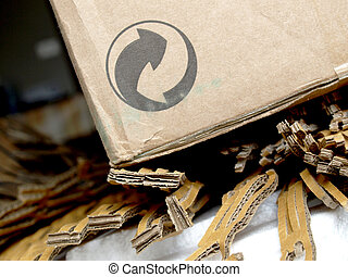 Corrugated cardboard - Brown corrugated cardboard packaging...
