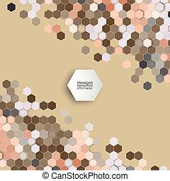 geometrisch, achtergrond, Abstract, Zeshoekig, model,...