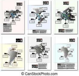 Zeshoekig, Ontwerp, infographic, templates.,...