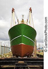 Shipyard - Ship repair at a shipyard in IJmuiden