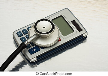 Calculating Healthcare Costs - A calculator and stethoscope...