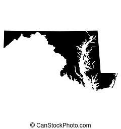 mappa, di, il, Stati Uniti., stato, di, Maryland, ,