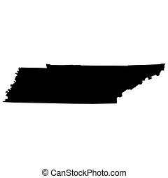 map of the US state of Tennessee