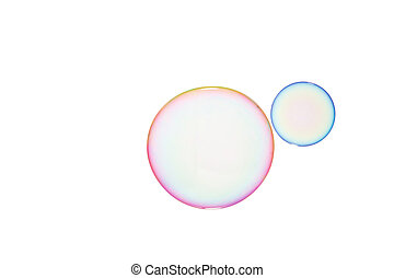 Soap bubbles - Group of soap bubbles on a white background