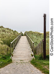 Wooden access pathway to the beach