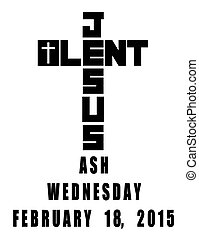 lent cross icon showing 2015 ash wednesday date