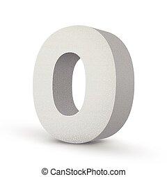 white letter O
