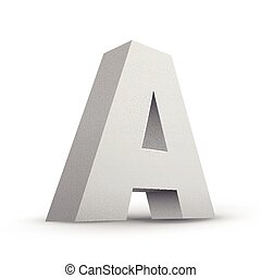 white letter A