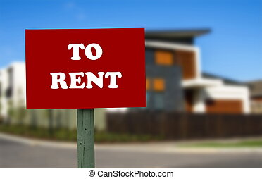 realestate - house for rent. realestate concept