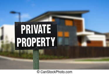 realestate - private property realestate concept