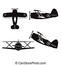 vintage biplane - vector illustration of vintage biplane...
