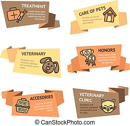 Veterinary Banner Set - Veterinary paper banner set with...