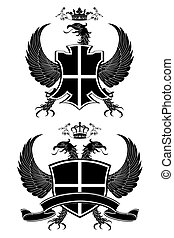 Coat of arms isolated on white.
