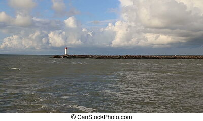 Baltic Sea lighthouse Ventspils Lat