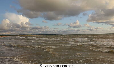 Baltic Sea waves Ventspils Latvia - DSLR Full HD progressive...
