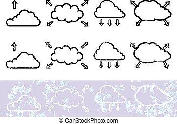 Cloud with arrow