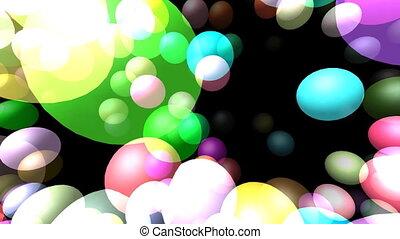 Flying transparent spheres video - Flying transparent...