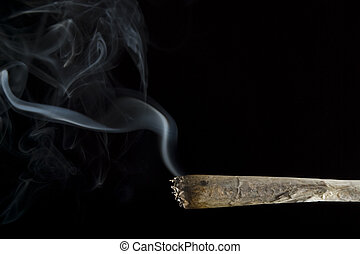 joint - A marijuana cigarette