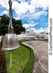Magnificently grand white temple Rong