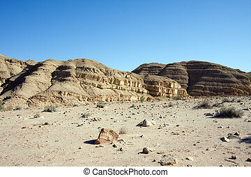 lines of desert - mountains, south of Israel, Mitzpe Ramon