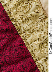 Patchwork Quilt - Close up from colorful patchwork sheet as...