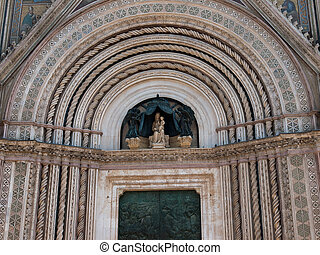 Orvieto-Italy - Detail from portal of the Cathedral in...