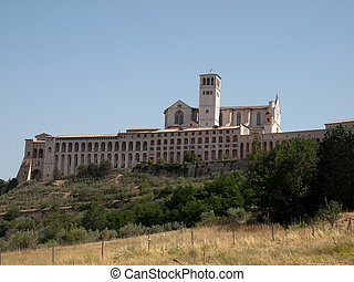 Assisi Italy - The Basilica of St.Francis and the Sacro...