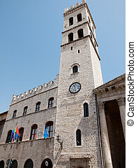 Assisi Italy - Tower del Popolo in Assisi,Italy