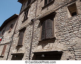 Assisi -Italy - Shutters of old house in Assisi