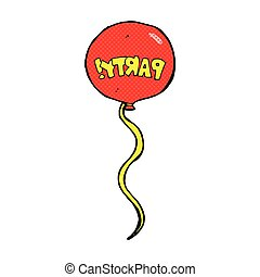 comic cartoon party balloon - retro comic book style cartoon...