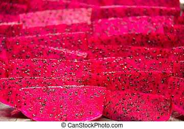 red dragon fruit - A Close-up of red dragon fruit
