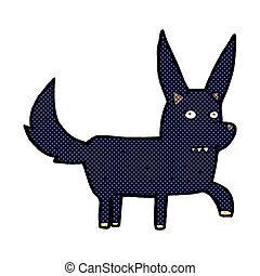 comic cartoon wild dog - retro comic book style cartoon wild...