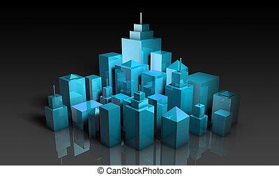 Futuristic Cityscape with a Modern Stylish Art
