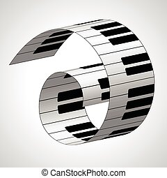 Piano keys, vector background