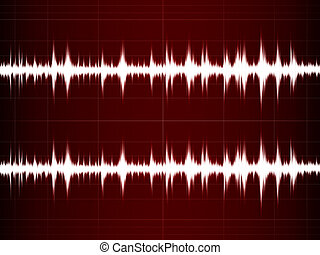 Wave Sound on the red screen