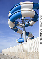 Water Slide - The curved water slide built straight on...