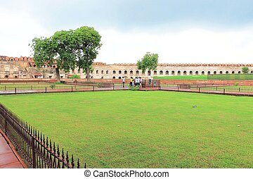 Agra red Fort, Uttar Pradesh, India - Agra Fort is a UNESCO...