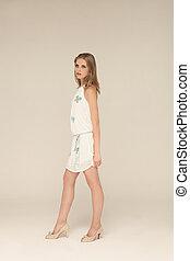 fashion girl - portrait of beautiful fashion girl, summer...