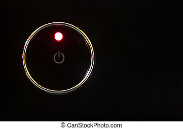Power button - Bower button with glowing red light