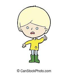 comic cartoon unhappy boy - retro comic book style cartoon...