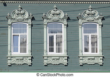 Three windows of the house of G. A. Andreyev, Tyumen,...