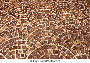 Arched brick background pattern - Close up of an arched...
