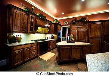 Luxuriously decorated kitchen - An image of a luxurious...