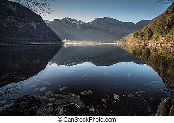 Bohinj Lake at sunrise ,Triglav National Park,Slovenia