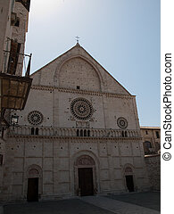 Assisi -Italy - Cathedral of St Rufinus in Assisi