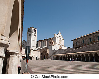 Assisi-Italy - The Basilica of StFrancis and the Sacro...