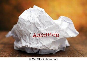 Broken ambition