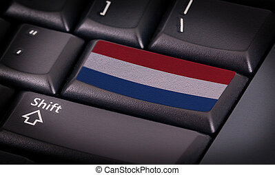 Flag on keyboard - Flag on button keyboard, flag of the...